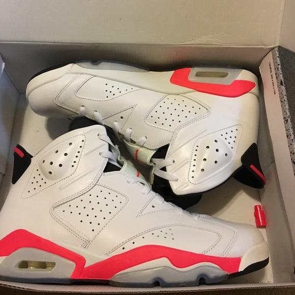 19b7790b7cd40f Jordan Other - Air Jordan Retro 6 white infrared size 12